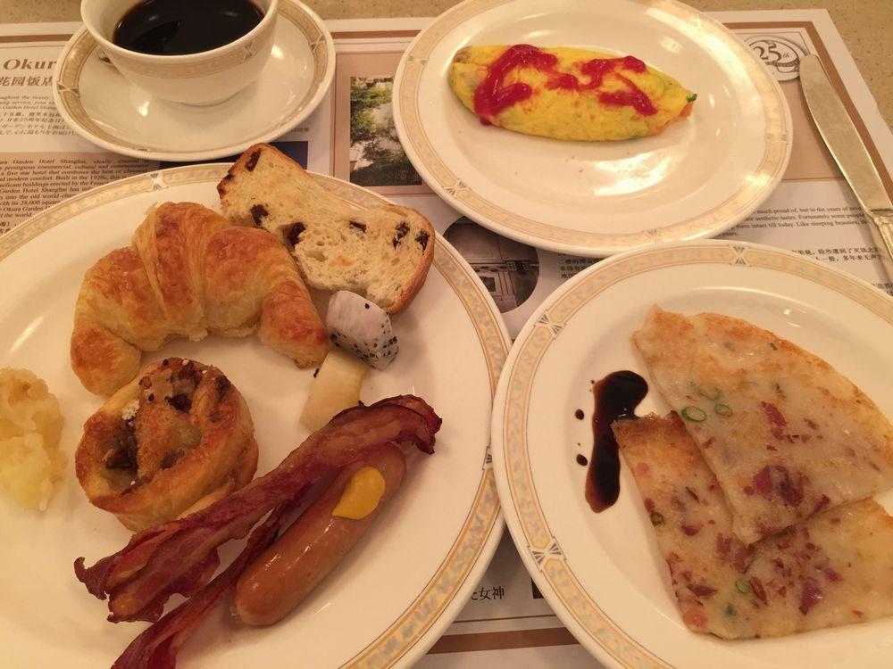 オークラガーデンホテル上海の1日目の朝食画像