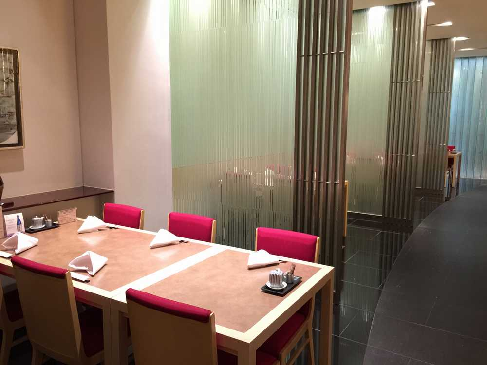 オークラガーデンホテル上海「山里」のテーブル画像