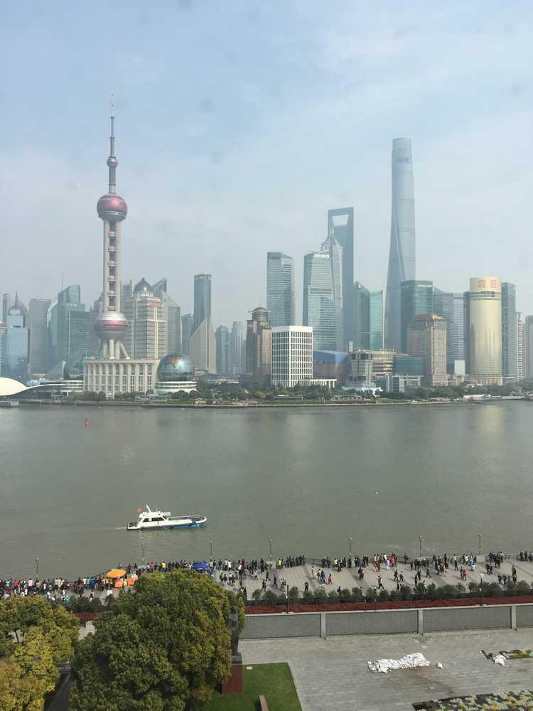 和平飯店北楼からの眺望画像