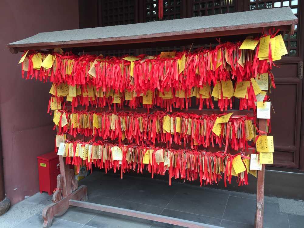 上海孔子廟内の絵馬奉納画像