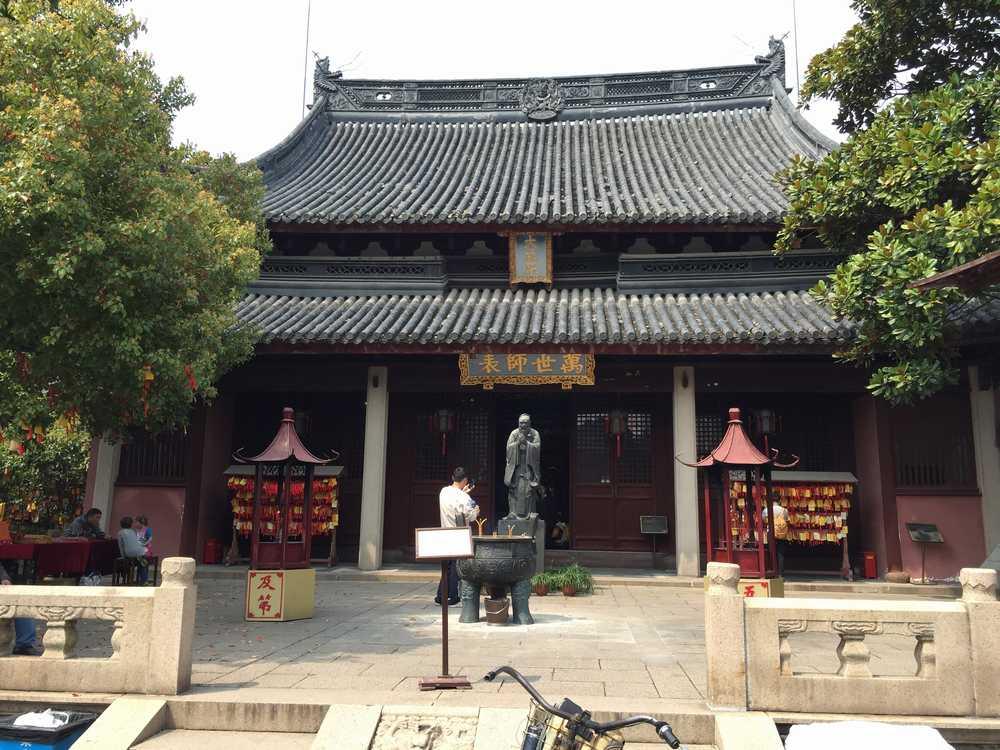 上海孔子廟の大成殿前画像