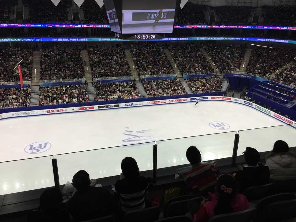 世界フィギュアスケート選手権2015男子ショートプログラム・小塚崇彦演技画像