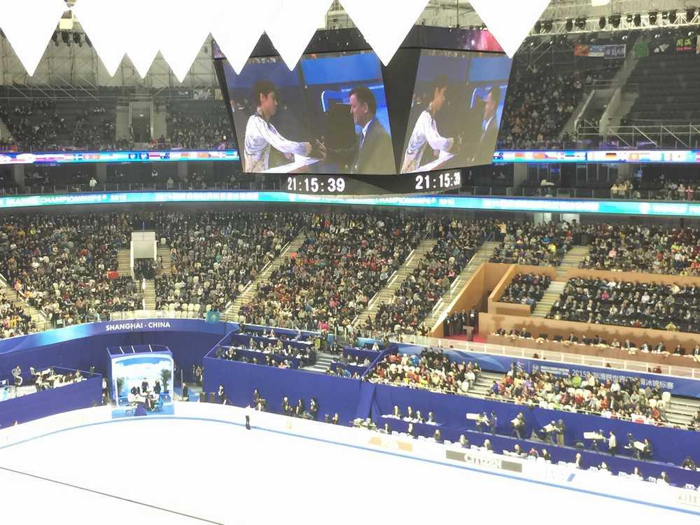 フィギュアスケート世界選手権 フリースケーティング羽生結弦演技開始画像